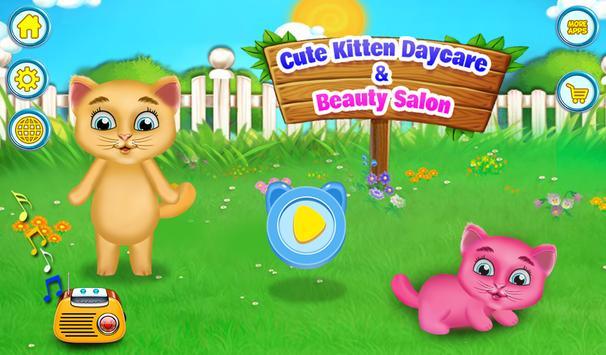 Cute Kitten Daycare & Beauty Salon poster