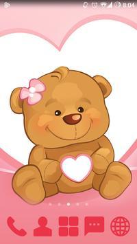 Sweet Bear GO Launcher Theme screenshot 1