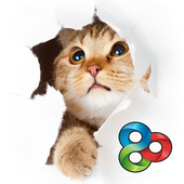 Shy Kitty - GO Launcher Theme icon