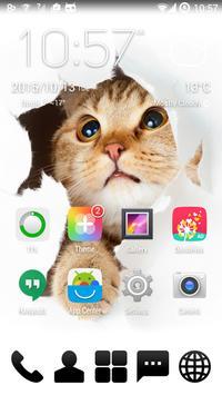 Shy Kitty - GO Launcher Theme screenshot 1