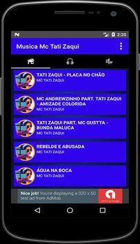Musica Mc Tati Zaqui Letra + Mp3 apk screenshot