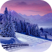 Winter scenery live wallpaper icon