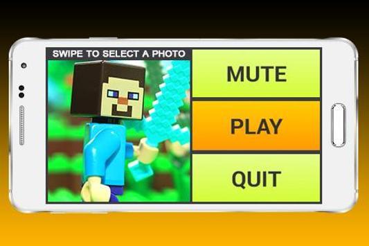 Slide Puzzle Lego Minecraft poster