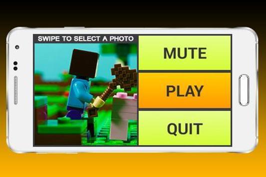 Slide Puzzle Lego Minecraft screenshot 1