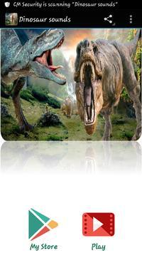Dinosaur sounds poster