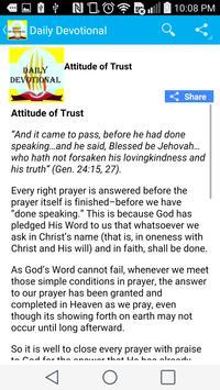 Daily Christian devotional apk screenshot