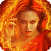 Fiery witch live wallpaper icon
