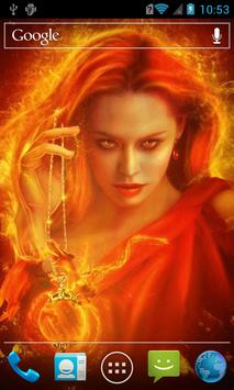 Fiery witch live wallpaper poster