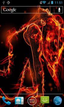 Transparent fiery girl LWP screenshot 1