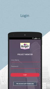 BERGER PROJECT MONITOR poster