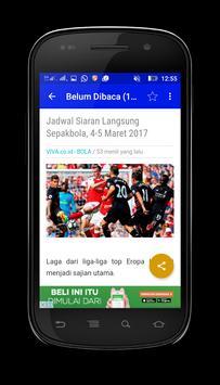 Berita Bola Dunia apk screenshot