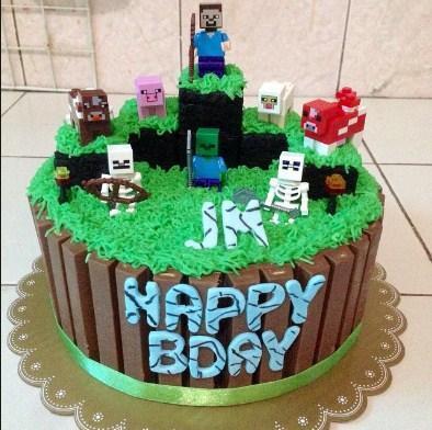 Enjoyable Minecraft Birthday Cake Idea For Android Apk Download Funny Birthday Cards Online Alyptdamsfinfo