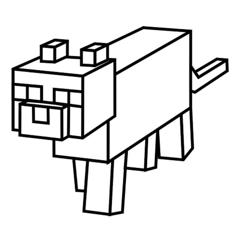 майнкрафт животные раскраска #11