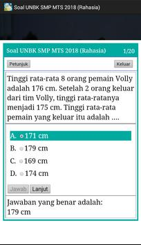 Soal UNBK SMP 2018 Offline (Ujian Nasional) screenshot 4