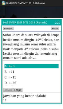 Soal UNBK SMP 2018 Offline (Ujian Nasional) screenshot 5