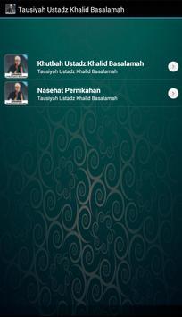 Tausiyah Ustadz Khalid Basalamah poster