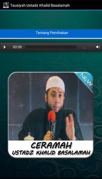 Tausiyah Ustadz Khalid Basalamah apk screenshot
