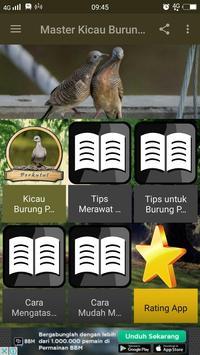 Master Kicau Burung Perkutut poster