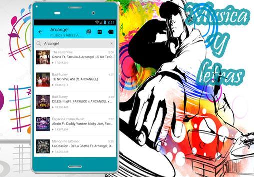Arcangel - Musica Me Acostumbre ft.Bad Bunny Letra apk screenshot