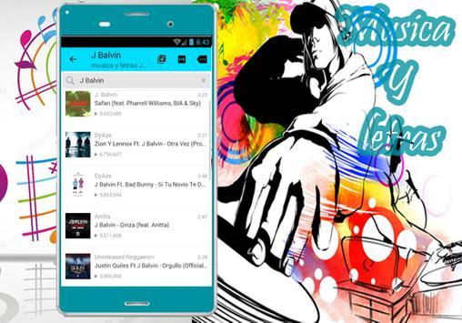 J. Balvin - Musica Mi Gente Y letras Willy William apk screenshot