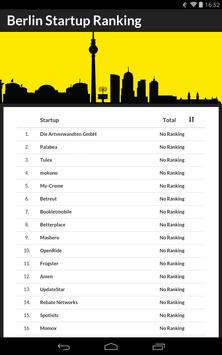 Berlin Startup Ranking screenshot 1