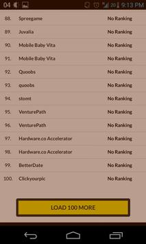 Berlin Startup Ranking screenshot 3