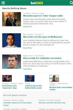 bet365 News screenshot 2