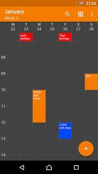 Beta Calendar screenshot 1