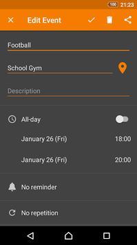 Beta Calendar screenshot 2
