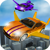 Flying Car City Transporting icon