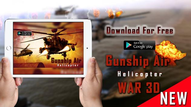 Gunship Helicopter Air Strike - 3D Battle apk screenshot