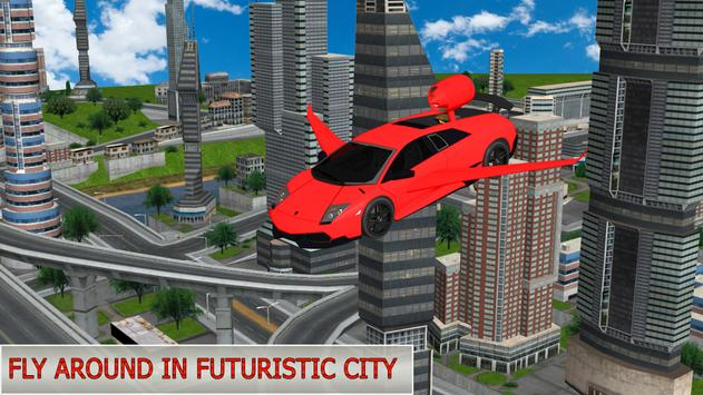 Flying Future Dream Car poster