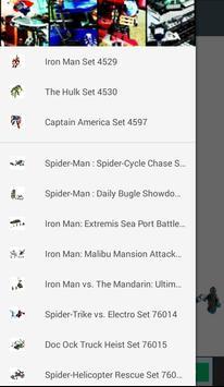 Instructions Bricks Marvel SH poster