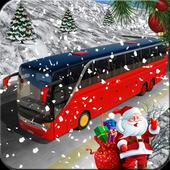 Amazing Christmas Tourist Bus Driving Simulator icon