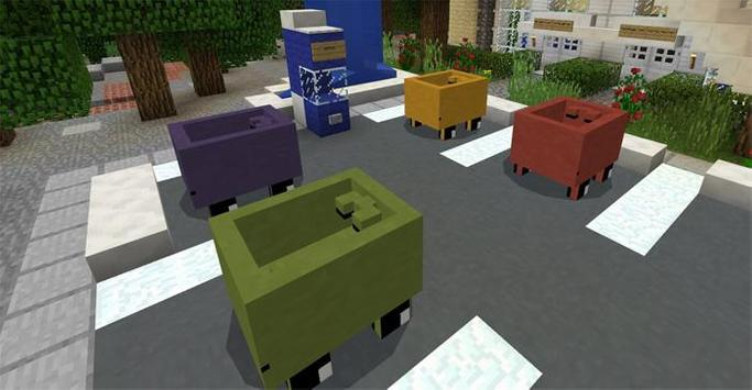 Mine-Cars for Minecraft poster