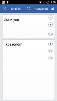 Hungarian English Translator apk screenshot