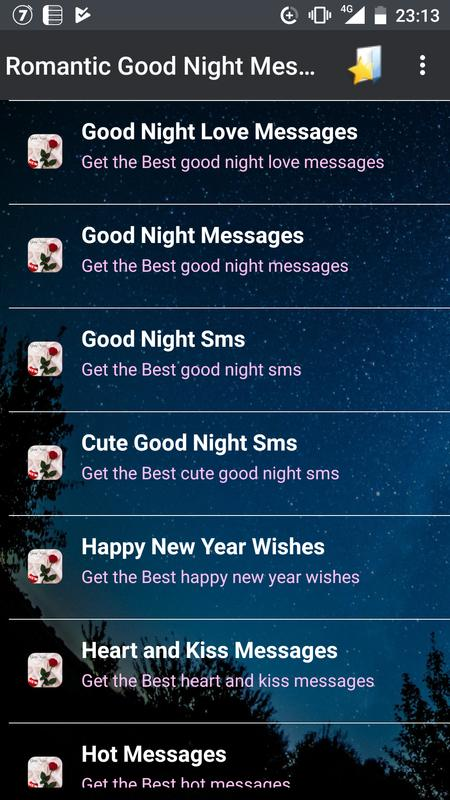 romantic good night messages poster