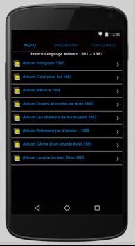 Celine Dion Full Album Lyrics screenshot 3