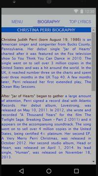 Christina Perri Full Lyrics screenshot 1