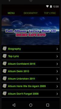 Demi Lovato Full Album Lyrics poster