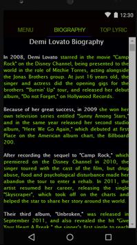 Demi Lovato Full Album Lyrics screenshot 1