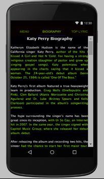 Katy Perry Full Album Lyrics screenshot 1