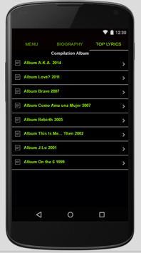 Jennifer Lopez Full Album Lyrics screenshot 1