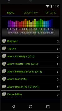 One Direction Full Album Lyric poster