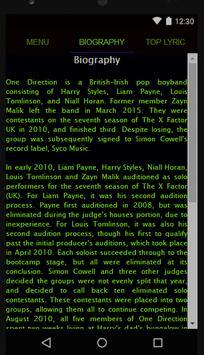 One Direction Full Album Lyric screenshot 1