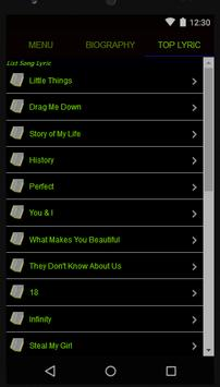 One Direction Full Album Lyric screenshot 2