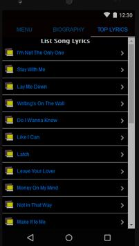 Sam Smith Full Album Lyrics screenshot 2