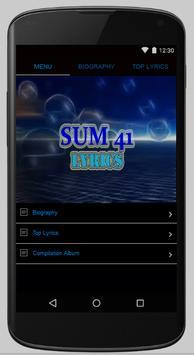 Sum 41 Full Album Lyrics poster