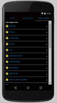 Sum 41 Full Album Lyrics screenshot 1