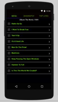 Queen Full Album Lyrics screenshot 2